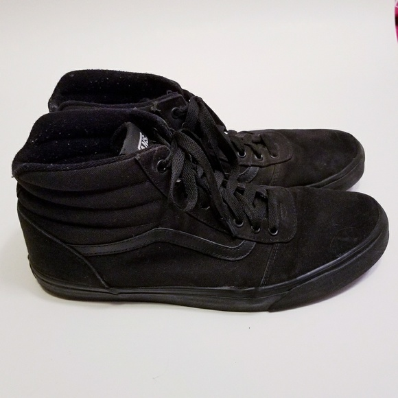 Vans Shoes | Solid Black Mens Size 14
